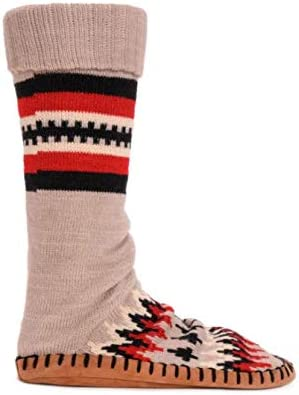 MUK LUKS Women's Slipper Socks - Geo Chevron