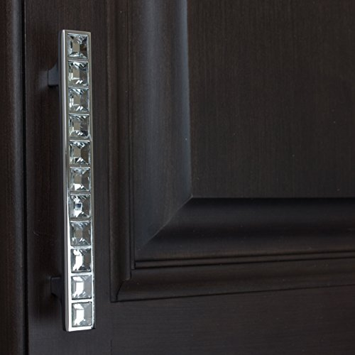GlideRite Hardware 9052-96-CR-50 3.75'' CC K9 Crystal Cabinet Pulls, 50 Pack, Small, Clear by GlideRite Hardware (Image #3)