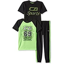 CB Sports boys 2 Close Hole Mesh Athletic T-shirts With Matching Pant