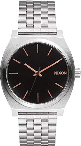 Nixon Men's Time Teller A0452064 Silver Stainless-Steel Watch