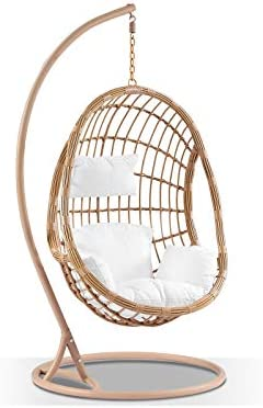 Delilah Hanging Egg Chair Egg Chairs Bay Gallery Furniture Amazon Com Au Home