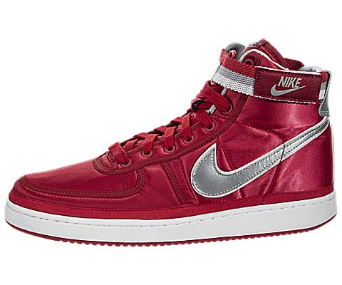 Nike Vandal High Supreme QS Basketball Sneakers (University Red / Metallic Silver, Size 13 M US) ()