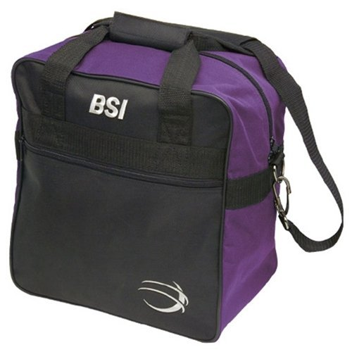 BSI Solar II Single Ball Bowling Bag- Black/Purple by Bowlers Superior Inventory