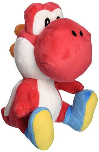 Little Buddy Super Mario Bros  6  Red Yoshi Stuffed Plush
