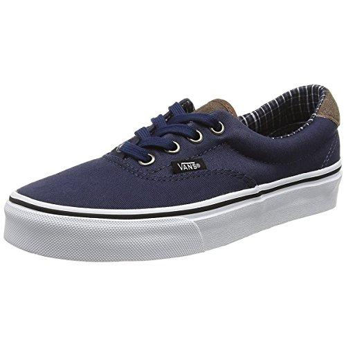 Vans Unisex Era 59 Skate Shoe (6.5 D(M) US, Dress Blue/True - Navy Vans Era