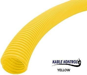 3//4 Diameter - 25Ft Long, White 3//4 Kable Kontrol Colored Split Wire Loom