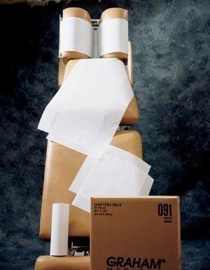 - Graham Medical 49020 Headrest Table Paper Smooth, White, 8.5