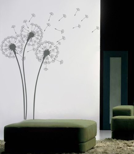 Pop Decors PT-0102 Dandelions Wall Decals for Nursery Room Natural Flowers