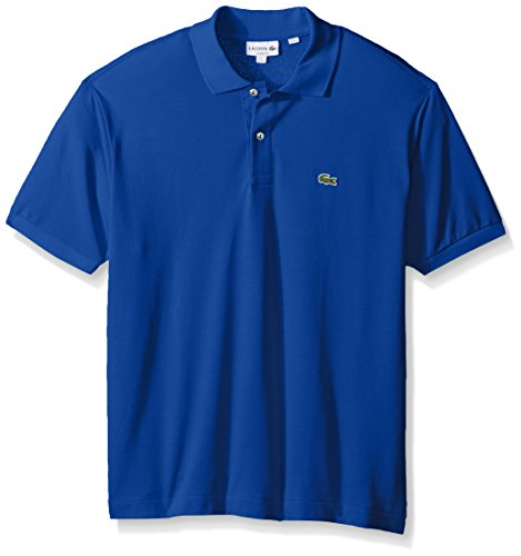 Lacoste Men's Short Sleeve Pique L.12.12 Classic Fit Polo Shirt, L1212, Heritage Blue, (Lacoste T-shirt Short)