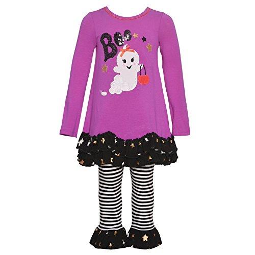 Bonnie Jean Little Girls Fuchsia Boo Ghost Detail Halloween Outfit 2T]()