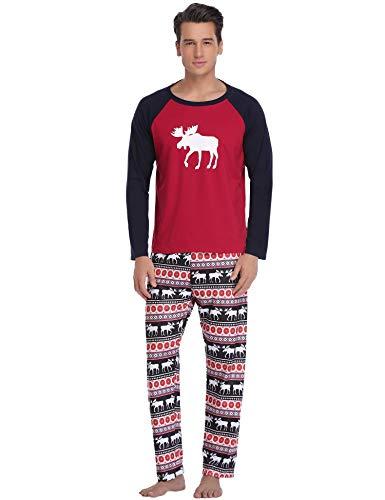 Conjunto Hauts Aibrou No 2 V Conjunto hombres Rouge de Hommes Enfants Pantalons pijamas Longs Aibrou pijamas para Nuit No de Et tements Cerf homme Estilo Famille l de Femmes xwFqTqYz0