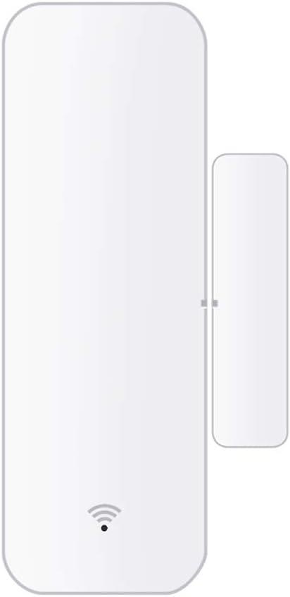 qinren WiFi Smart Door//Window Sensor Wireless Alarm Mobile Phone App Remote Monitoring,White,Plastic
