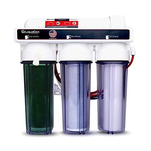 - 4 Stage - LiquaGen High Flow Reverse Osmosis/Deionization (RO/DI) Water Filtration System - 0 TDS- USA Built