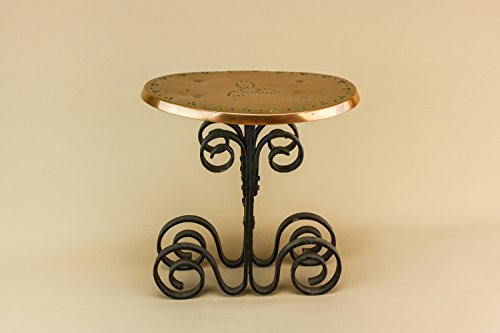 Medium Black Ornamental STAND Copper Arts Crafts Gift Traditional English Circa 1900 LS - Bassett Cottage Collection