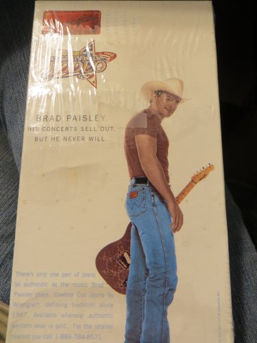 Wrangler National Finals Rodeo 2002 Brad Paisley VHS with Phil Vassar, ZZ top, Tracy Byrd, tommy Shane Steiner