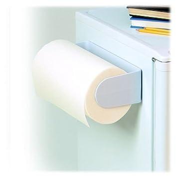 spectrum diversified 40500 white magnetic paper towel holder ebay. Black Bedroom Furniture Sets. Home Design Ideas