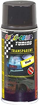 Dupli-Color 430213 Spray de Tuning y Pintura Universal, Color Transparente Negro, 150 ml