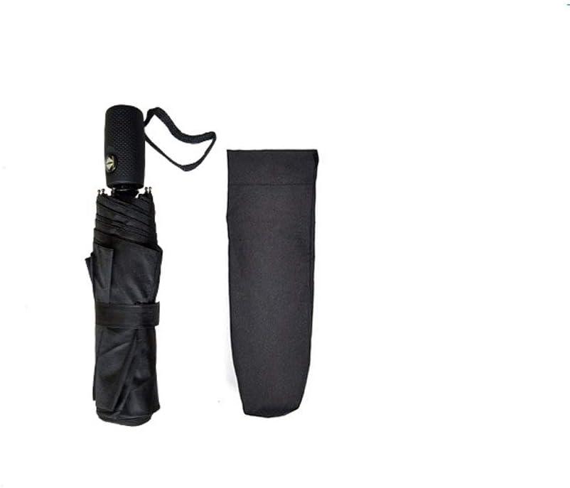 Paraguas de viaje compacto: a prueba de viento, toldo reforzado, manija ergonómica, apertura/cierre automático