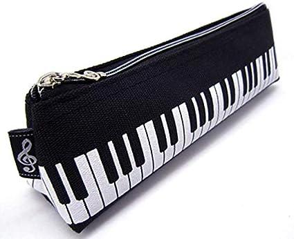 Estuche para lápices con forma de triángulo y temática musical (diseño de teclado): Amazon.es: Oficina y papelería