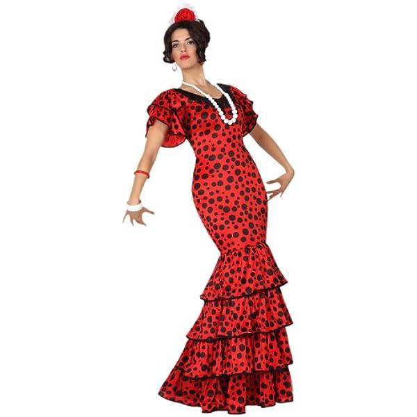 Atosa- Disfraz rumbera, Color rojo, XL (15589): Amazon.es ...