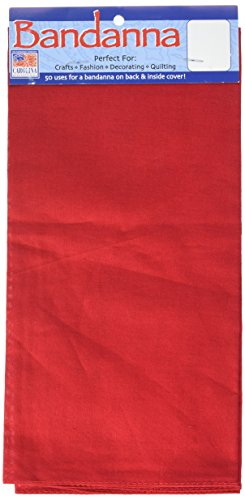 Carolina B22SOL-199 Hav, A, Hank Solid Bandanna, 22-Inch by 22-Inch, Red -
