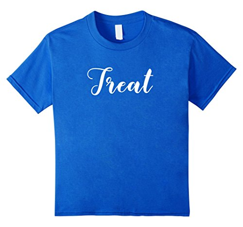 Kids MATCHING SET Trick or Treat couples costume halloween shirt 4 Royal (4 Person Matching Costumes)