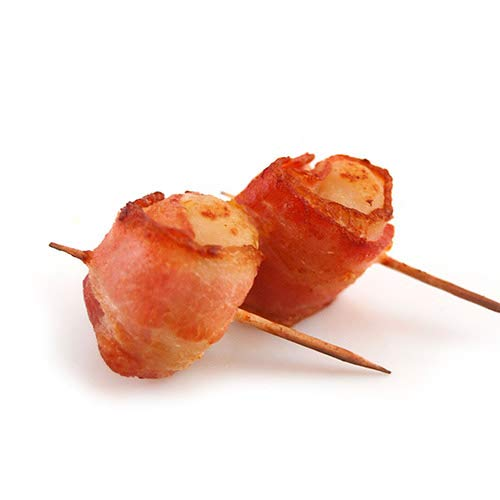Frozen Bacon Wrapped Water Chestnuts - 200 Units (1 Oz Each) (12.5 pound)