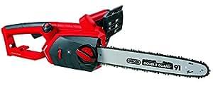 Einhell GE-EC 2240 - Motosierra eléctrica, lubricación automática, velocidad de corte 15 m/s, 7800 rpm, 2200 W, 220 - 240 V, color negro y rojo