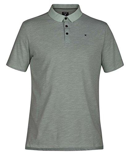 (Hurley Men's Nike Dri-Fit Short Sleeve Lagos Polo, Green,)
