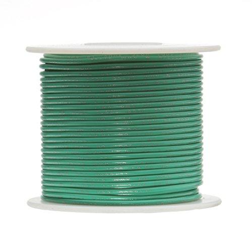 Remington Industries 26UL1007SLDGRE1000 26 AWG Gauge Solid Hook Up Wire Green 1000 feet Length 300 Volts UL1007 0.0190 Diameter