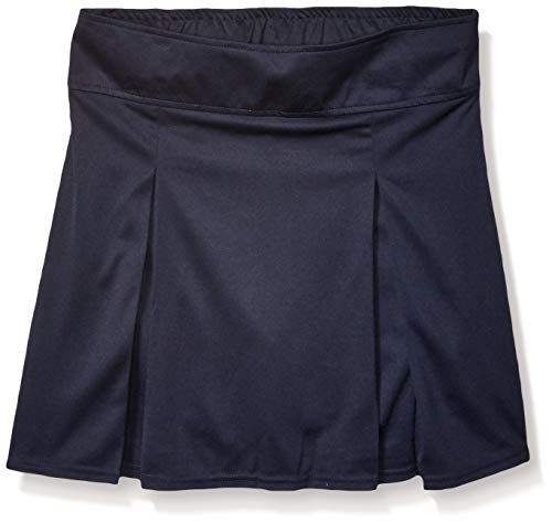 French Toast Girls' Big' Pull-on Kick Pleat Scooter, Navy, L (10/12)