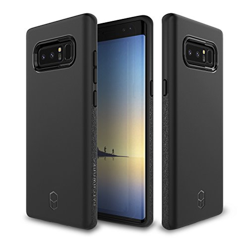 PATCHWORKS Galaxy Note 8 Case [Level Series] Level ITG in Black - Military Grade Certified Drop Protection, Shockproof Impact Disperse Technology System