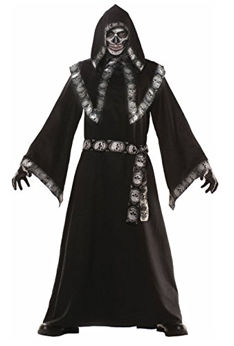 Skull Master Costume - Teen, Multicolor - Dark Reaper Teen Costumes