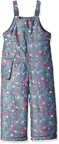London Fog Girls' Toddler Classic Snow Bib Ski Snowsuit, Floral, ()