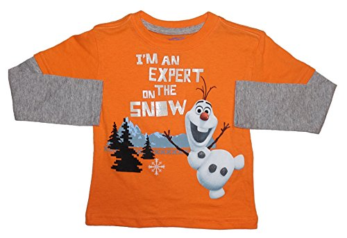 Disney Frozen Ofla I'm an Expert ON The Snow Toddler Little Boys Tee T-Shirt Top