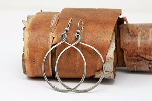 Minimalist Rustic Sterling Silver 1.25