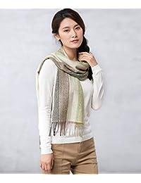 nwn Wool Scarf Female Winter Warm Thick Versatile Shawl Dual Purpose (Color : B)