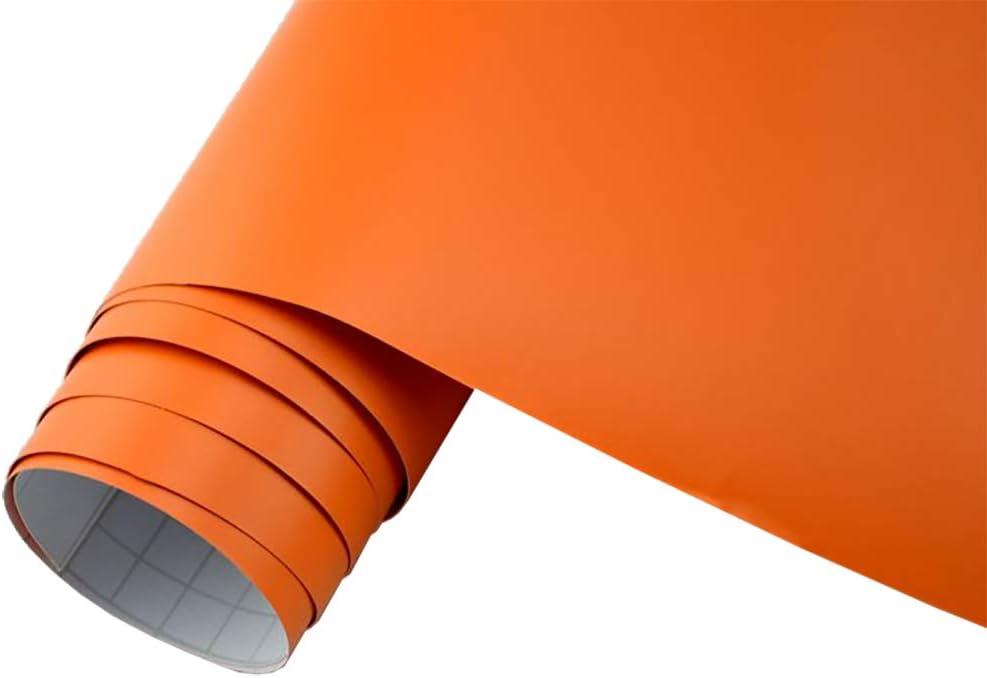 Neoxxim 5 M2 Auto Folie Matt Orangematt 30 X 150 Cm Klebefolie Dekor Folie Dehnbar Auch Für Möbel Auto