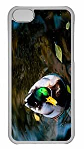 Customized iphone 5C PC Transparent Case - Wild Duck 2 Personalized Cover