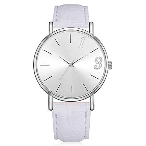 Windoson Ladies Watches Crocodile PU Leather Movement Dress Fashion Watch (White) ()