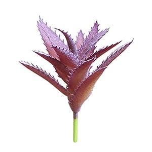 BLagenertJ 1Pc Realistic Succulent PVC Plant Artificial Fake Aloe DIY Home Decor Arrangement - Purple 52