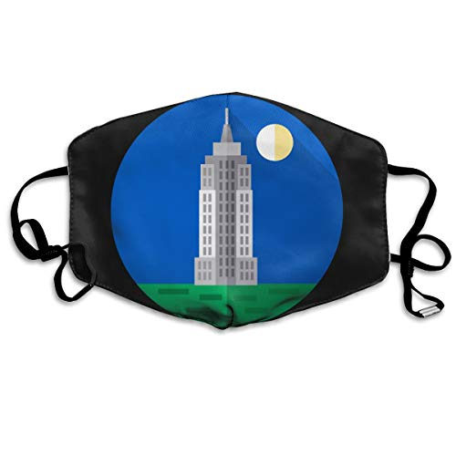 SDQQ6 Empire-State-Building Mouth Mask Unisex Printed Fashion Face
