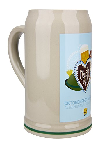 Official 2017 Oktoberfest Munich Beer Mug 1 Liter