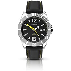 Sekonda Men's Quartz Watch with Black Dial Analogue Display and Black PU Strap 3324.27