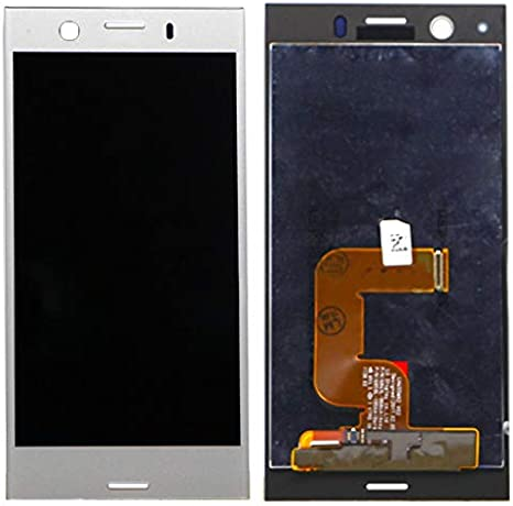 Black Color : Black Smartillumi for Spare Part LCD Screen and Digitizer Full Assembly for Sony Xperia XZ1 Compact