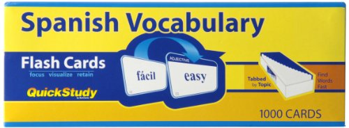 Spanish Vocabulary (Quick Study) by Inc. BarCharts