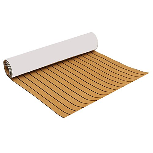 CoCocina 90x230cm Self-Adhesive EVA 6mm Faux Foam Teak Sheet Boat Decking