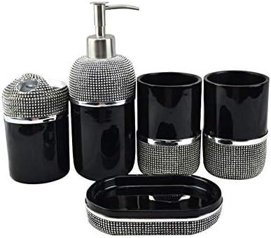 FXin バスルームアクセサリー、樹脂素材創造的なバスルームセット5セット6セットのバスルーム用品キットバスルーム歯ブラシセット、3スタイル シャワー室 (Size : A)