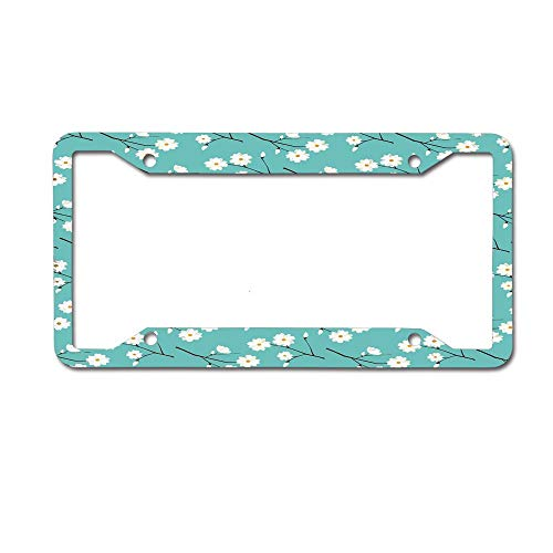 (PoppyAnthony Lings Moment White Roses for Wedding Bouquets Centerpieces Party Novelty License Plate Frame Aluminum License Plate Slim 4 Holes and Screws for US Canada)