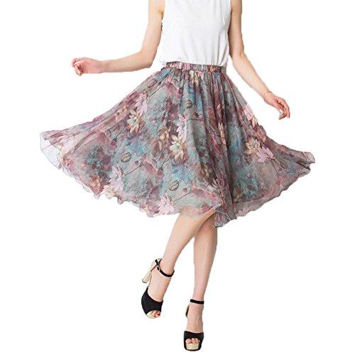 Chiffon Knee Length Skirt - 7